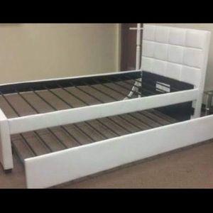 Brand new twin over twin trundle no mattress for Sale in Pompano Beach, FL