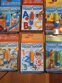 Melissa & Doug ON THE GO - Water Reveal Pads - Set Of 6 New for Sale in Las Vegas,  NV