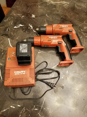 Drill set 2 guns 1 battery and charger works great for Sale in Lincoln Park, MI