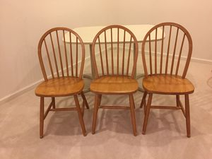 Wooden chairs and table for Sale in Ashburn, VA