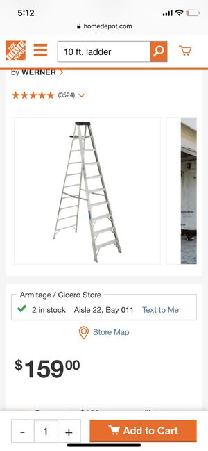 10Ft A ladder for Sale in Chicago, IL