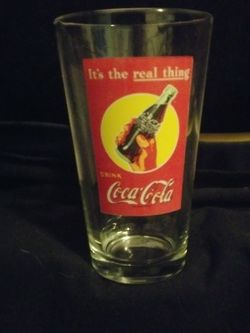 Coca Cola Its The Real Thing Pint Glass for Sale in Silverdale,  WA