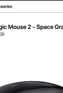 Apple Magic Mouse 2 - Space Grey for Sale in Oakhurst,  NJ