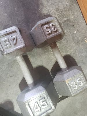 Dumbbells weights 2 a pound for Sale in Lake Stevens, WA