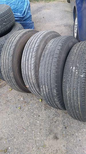 Four trailer tires 235-80-16 for Sale in Ypsilanti, MI
