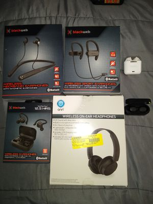 Blackwep headphones,six different types wireless Bluetooth earbuds for Sale in Philadelphia, PA