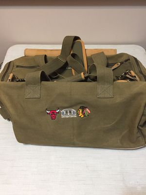 High Sierra Leather/Canvas Travel Duffle Bag United Center Premium Seating for Sale in Schererville, IN