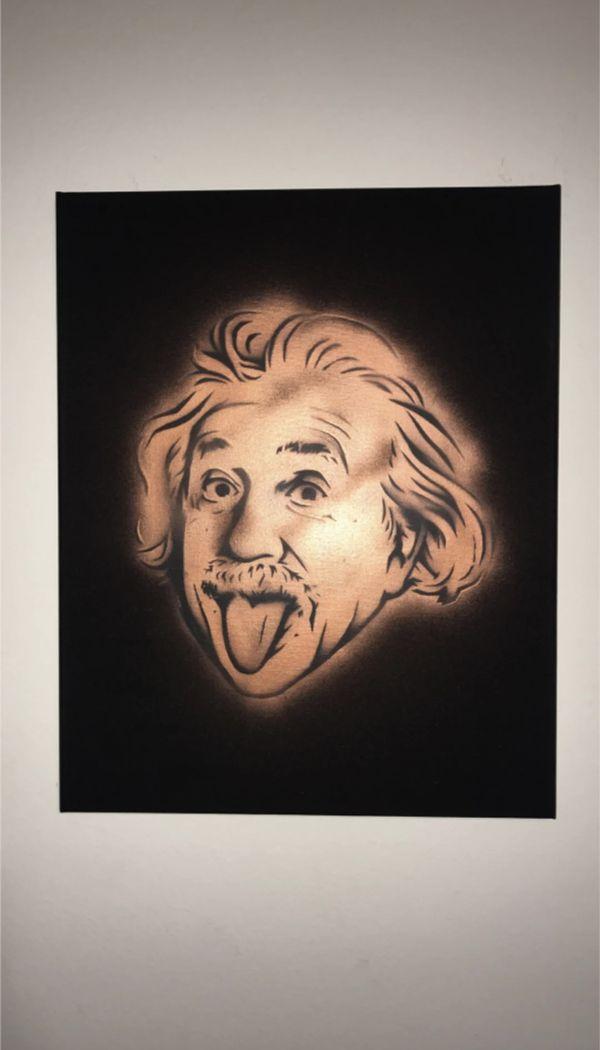 Einstein 16x20 Graffiti Canvas