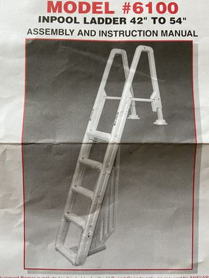 """Inpool Ladder for 42""""-54"""" pools for Sale in Pittsburgh, PA"""