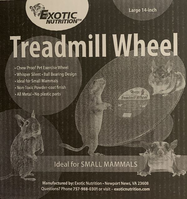 "Exotic Small 14"" Animal Treadmill Wheel"