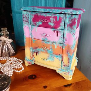 Salty Boho Sunset Patina Dresser Jewelry Armoire Jewelry Box for Sale in St. Petersburg, FL