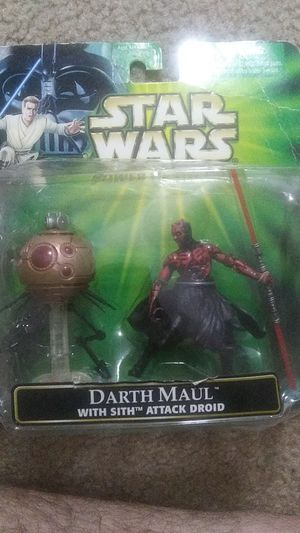 Darth Maul with Sith Attack Droid Star Wars Power of the Jedi Action Figure for Sale in Lyman, SC