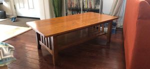 Solid wood Mission style coffee table for Sale in Arvada, CO