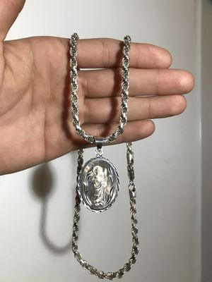 "Solid 925 Sterling Silver Rope Chain 5mm 22"" 48 Grams Total Pickup Only! for Sale in Lynwood, CA"
