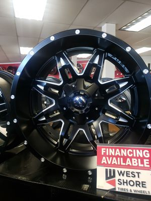 "20"" 20x10 -12. 5×114.3/5×127 Matte Black Fuel Offroad wheels Tires Available Jeep Wrangler TJ JK 2wd 4x4 Cherokee FINANCING Available for Sale in Bellflower, CA"