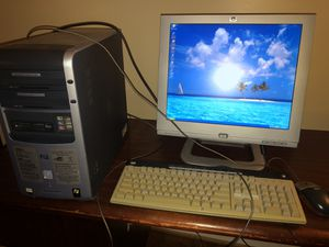 "HP Pavilion a720n desktop computer with 17"" flat screen monitor, keyboard and mouse for Sale in Washington, DC"
