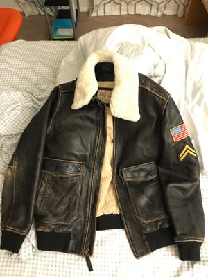 Wilson genuine leather jacket removal collar for Sale in Chantilly, VA