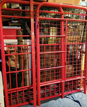 Red metal loft bed with shelves for Sale in Fuquay-Varina, NC