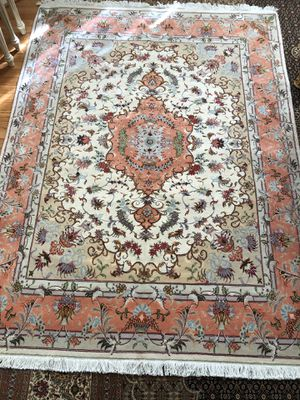 Persian handmade Tabriz wool and Silk rug for Sale in Boyds, MD