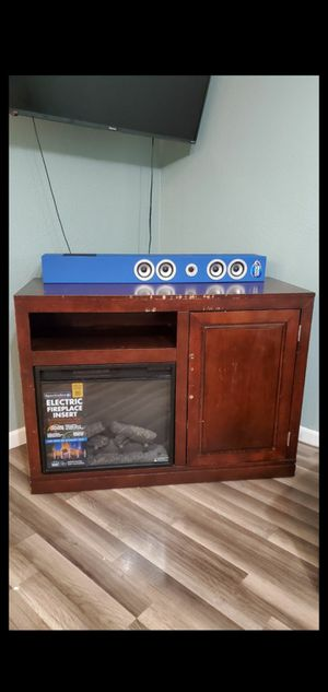 Living Room TV Stand W/ Fireplace insert and Fridge for Sale in Tulsa, OK