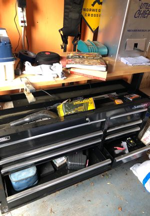 Husky tool box with work bench for Sale in Edmonds, WA