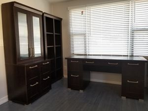 4 pieces Contemporary Office Furniture- Desk, Bookshelves, Drawers and-$700(University heights) for Sale in San Diego, CA