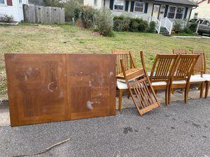 Free dining table and 6 chairs. Hampton VA needs minor repair. for Sale in Hampton, VA