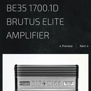Hifonics 35th Anniversary 1700 watt Amp for Sale in Chesapeake, VA