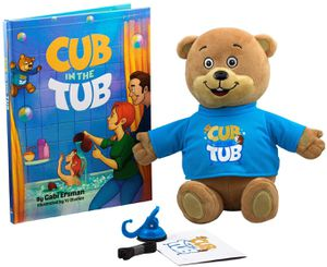 Cub In The Tub: The Hair Washing Superhero - Plush Teddy Bear Makes Bath Time Fun and Protects Kids from Water and Soap in The Eyes - Book and CD Incl for Sale in Las Vegas, NV