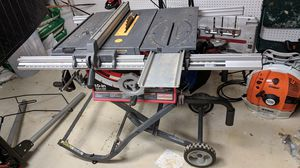 Craftsman 10 inch table saw with foldable stand for Sale in Southborough, MA