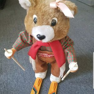 Vintage 1986 Skiing Champion Bear. Music Battery Doll (Music Works) for Sale in Escondido, CA
