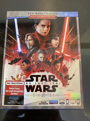 Star Wars The Last Jedi Blue Ray DVD for Sale in Phoenix, AZ