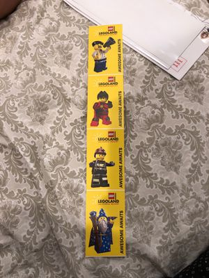 LEGO LAND TICKETS 🎫 200 for 4 for Sale in Azusa, CA