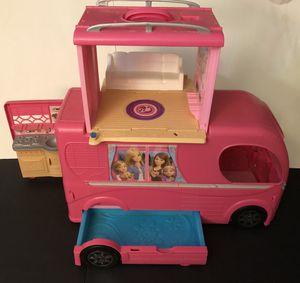Gently used 2014 Mattel Barbie Pop Up Camping RV for Sale in Whitman, MA