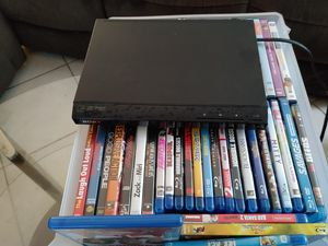 100 DVD's with dvd player for Sale in Boynton Beach, FL