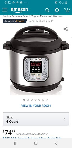 Instant pot 7 in 1 6qt for sale for Sale in Santa Clara, CA