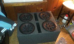 4 12 inch kicker pvr comp for Sale in Pretty Prairie, KS