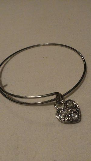 Silver heart charm bracelet for Sale in Salt Lake City, UT