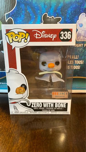 Funko Pop BoxLunch Exclusive Zero with Bone Nightmare Before Christmas for Sale in Clearwater, FL