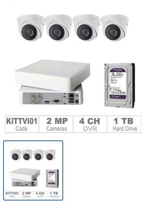 Cctv cameras kit brand new full hd installation available for Sale in Miami, FL