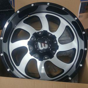 """Brand New 20"""" WDY 20X10 6x135 / 6x139.7 Black Machine Wheels for Sale in Miami, FL"""