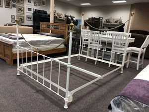 Queen Sized Vintage Iron Bed for Sale in Hubert, NC