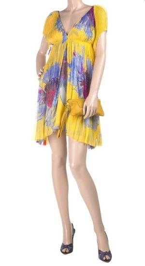 diane von furstenberg pleated chiffon dress 4 for Sale in Atlanta, GA