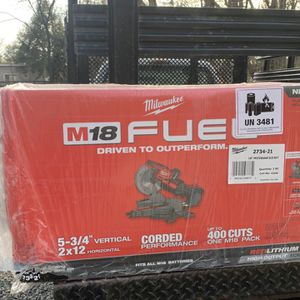M18 Fuel 18-Volt 10 in. Lithium-Ion Brushless Cordless Dual Bevel Sliding Compound Miter Saw Kit with One 8.0 Ah Battery for Sale in Levittown, PA