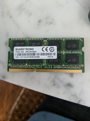 Sharetronic 4GB DDR3 Laptop RAM for Sale in Seattle, WA
