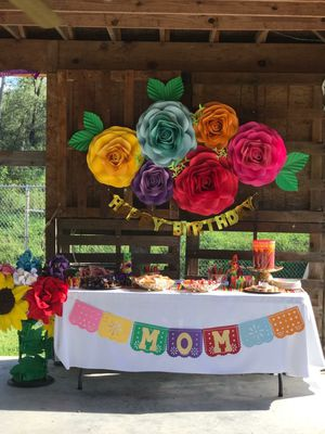 Paper flowers, fiesta party decoration, rainbow paper flowers for Sale in Houston, TX
