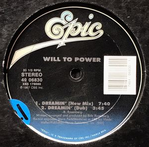 Will to Power - Dreamin' (12-inch vinyl) Record Single for Sale in Corona, CA