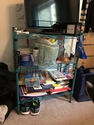 3-tiered blue wire shelves for Sale in Blacksburg, VA