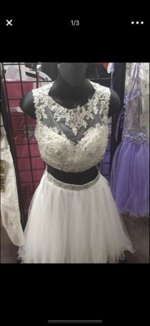White 2 piece homecoming dress for Sale in Pittsburgh, PA