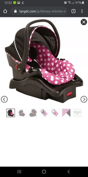 DISNEY MINNIE MOUSE INFANT CAR SEAT for Sale in Wichita, KS